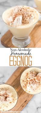 non alcoholic homemade eggnog ahead
