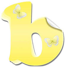 Amazon Com Wall Letter Stickers Custom Name Decals Girls Personalized Initial Baby Nursery Kids Room Decor Child Playroom Bedroom Home Vinyl Alphabet Removable Peel Stick Butterflies Letter B Yellow Butterfly Baby