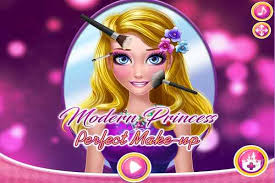 modern princess perfect make up games