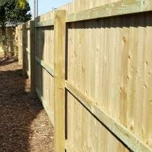 Wooden Posts Rails Feather Edge Boards Pales Round Fencing Capping