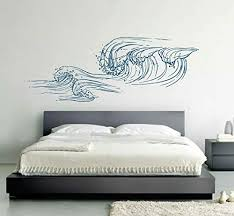 Amazon Com Big Wave Wall Decals Sea Wave Wall Sticker Beach Decor Sea Art Sea Decals For Kids Rooms Wall Graphics For Bedrooms Ik3415 Handmade