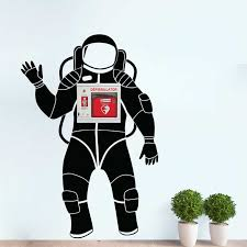 Space Astronaut Wall Decal For Aed Storage Box