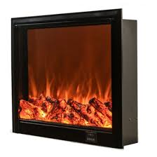 3d led wall electric fireplace insert
