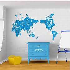 Travel World Map Wall Stickers Large New Design Coffee Shop Pattern Wall Decal Vinyl Poster Sticker World Map Decals Aliexpress