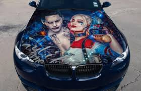 Vinyl Car Hood Full Color Wrap Graphics Decal Harley Quinn And Etsy