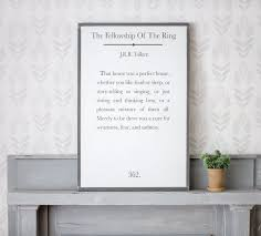 the fellowship of the ring jrr tolkien quote sign