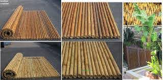 Allbamboo Product4sale Decorative Bamboo Fencing Wainscot Ply Paneling Poles Palapa Umbrella Chickee Affordable Fence Supply Bamboo Roll Panel Rolled Bamboo Natural Fencing Privacy Fences Framed Fence Picture Structure 4 Ftx8 Ft 3 4 1 Inch