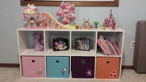 My Little Pony Shelf With Storage Bins And Books My Little Pony Bedroom Pony Bedroom Baby Girl Room