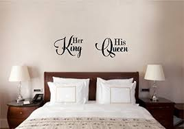 Amazon Com Enchantingly Elegant Ll007d His Queen Her King Wedding Valentines Love Wall Decor Stickers Home Kitchen