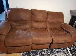 seat recliner suede leather sofa