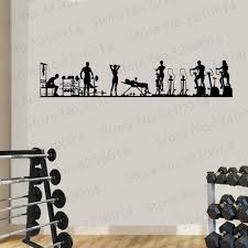 Large Vinyl Decal Wall Sticker Fitness Gym Sport Athletic Interior Removable Decor Waterproof Decals Wl106 Wall Stickers Aliexpress