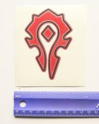 World Of Warcraft Horde Game Vinyl Decal Gem City Books