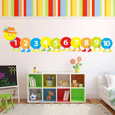 Counting Caterpillar Nursery Wall Decal Sticker Ws 41267 Ebay Baby Room Wall Decor Baby Room Wall Childrens Wall Decals