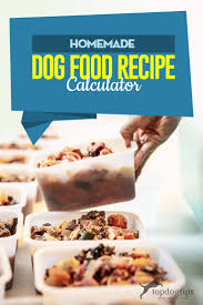 homemade dog food recipe calculator