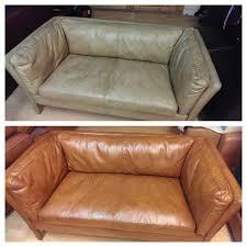 sun bleached aniline sofa the leather