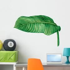 Tropical Jungle Palm Leaf Wall Decal Wallmonkeys Peel And Stick Graphic 36 In H X 36 In W Wm502852 Walmart Com Walmart Com