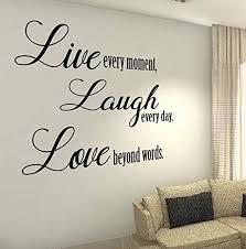 Amazon Com Cliffbennett Giant Live Laugh Love Quote Decal Vinyl Family Kitchen Stickers Love Life House Wall Decals Wall Vinyl Decals Stickers Diy Art Decor Home Kitchen