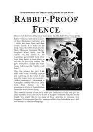 Rabbit Proof Fence N The Curriculum Project