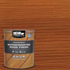 Behr Premium 1 Gal Cedar Naturaltone Transparent Waterproofing Exterior Wood Finish 50101 The Home Depot