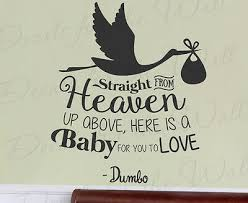 Straight From Heaven Baby Dumbo Disney Kids Wall Art Vinyl Decal Sticker Q49 11 97 Picclick
