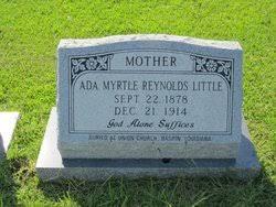 Ada Myrtle Reynolds Little (1878-1914) - Find A Grave Memorial
