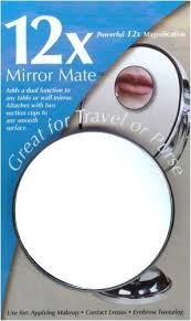 mirror mate 12x magnifying suction cup