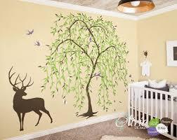 Large Baby Nursery Willow Tree Vinyl Wall Decal Tree Sticker Etsy Vinyl Tree Wall Decal Willow Tree Tattoos Tree Mural