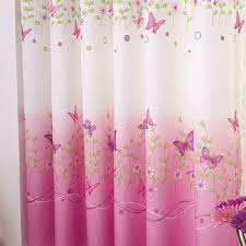 Pink Butterfly Childrens Bedroom Finished Curtain Kids Window Curtains For Sale Online Ebay