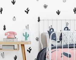 Cactus Wall Decals Nursery Decals Vinyl Wall Decals Tribal Nursery Decals Cactus Wall Stickers Succulent And Cacti Decals