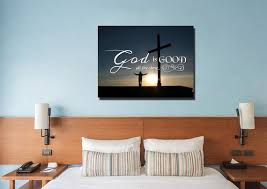 god is good all the time bible christian quotes wall art