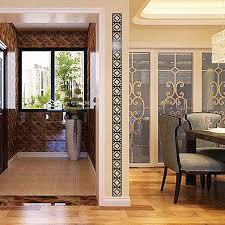 Buy 3d Modern Mirror Flowers Vinyl Removable Wall Sticker Decal Home Decor Art Bk V884 By Yuanzala On Opensky