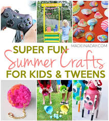 super fun summer crafts for tweens