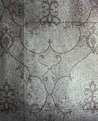 rococo mirror wallpaper silver