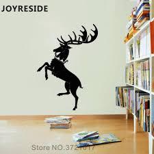 Joyreside Deer Wall Decal Wall Sticker Animals Deer Silhouette Vinyl Decor Home House Kids Rooms Art Decor Interior Design A1156 Wall Stickers Aliexpress