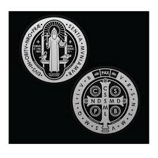 St Benedict Medal Double Sided Auto Decal 7tvsbd F C Ziegler Company