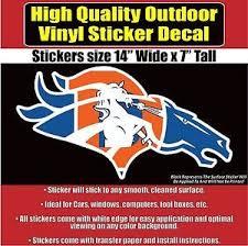 Large Denver Broncos Old D Horse Head Custom Design Window Decal Sticker Ebay Vinyl Decal Stickers Bumper Stickers Vinyl Window Decals
