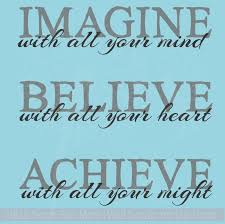 Imagine Believe Achieve Inspirational Vinyl Lettering Decals Wall Sticker Art School Decor Quote