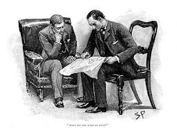Sherlock Holmes in The Adventure of the crooked man as drawn by Sidney Paget   eBay