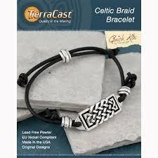 tierracast black leather celtic braid