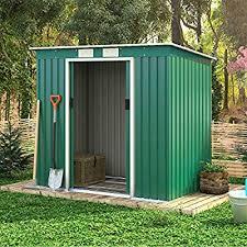 casart metal garden shed for tools kit