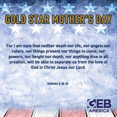 Gold Star Mother's Day
