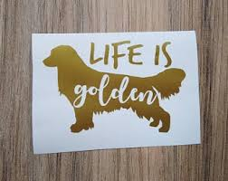 Golden Retriever Sticker Etsy