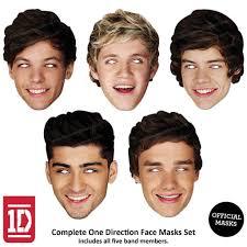 one direction face masks set names foto