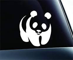 Amazon Com Expressdecor Panda Bear Symbol Decal Funny Car Truck Sticker Window White Automotive