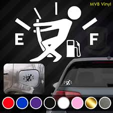 Low Gas Funny Vinyl Decal Car Truck Sticker Stickman Fuel Door Gauge Jdm Race Ebay