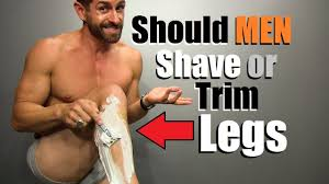 should guys shave or trim their legs