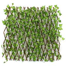 Garden Artificial Faux Ivy Leaf Hedge Panels On Roll Expandable Screen Fence Ebay