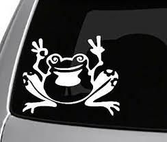 Peace Frog Decal Bumper Sticker Love Funny Car Window Laptop Bogo Hippie Scubadivetoday Com