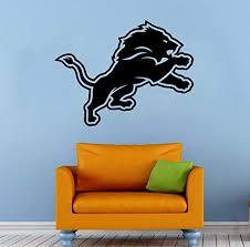 Amazon Com Andre Shop Detroit Lions Nfl Vinyl Decal Wall Sticker Emblem Football Team Logo Sport Home Interior Removable Dsx6eo Home Kitchen
