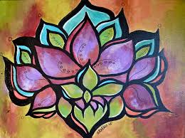 Lotus Painting by Abby Keller